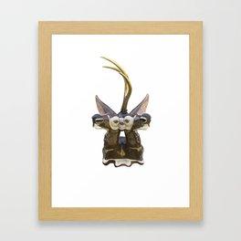 Trophy Head (Chocolate5OcularGoldenUniHorn) Framed Art Print