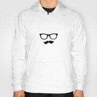 mustache Hoodies featuring Mustache by Isabel Moreno-Garcia