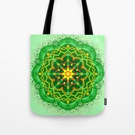 Mandala Zen Greenery Seamless Pattern Design Tote Bag