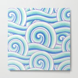 Auspicious Waves Metal Print