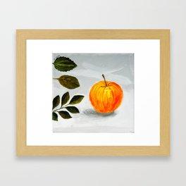 Apple and Leaves Framed Art Print