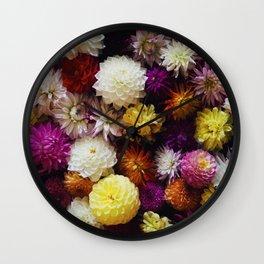 Dahlia Mix Wall Clock