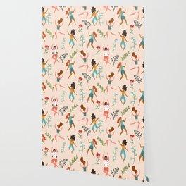 Central Park Zumba #illustration #pattern #womensday Wallpaper