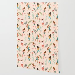 Central Park Workout #illustration #pattern #womensday Wallpaper