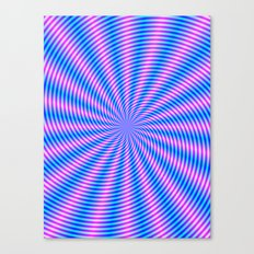 Pink and Blue Spiral Rays Canvas Print