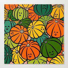 Halloween Pumpkins in Action Canvas Print