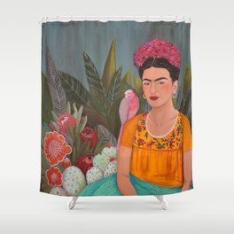 Frida a la casa azul Shower Curtain