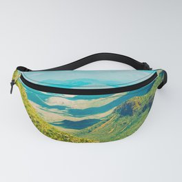 Vintage Landscape Photography Mountain Valley Photography Fanny Pack