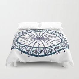 Elder Futhark Rune Wheel Duvet Cover