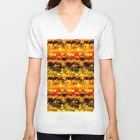 africa V-neck T-shirts featuring Africa. by Assiyam