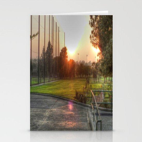 Sunset Golf Stationery Cards
