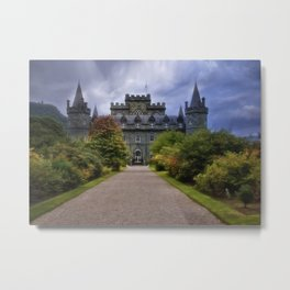 Night at the Castle Metal Print