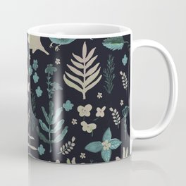 Night Nature Floral Pattern Coffee Mug
