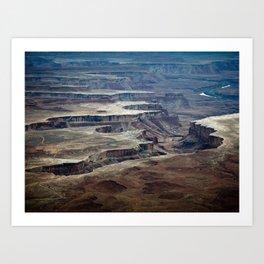 Canyonland Craters Art Print