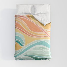 Sea and Sky II / Abstract Landscape Comforters