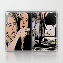 Woman Yelling at Cat meme Laptop & iPad Skin