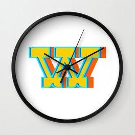 Letter W Wall Clock