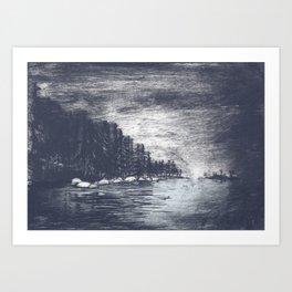 Midwinter silence Art Print