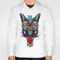 panther Hoodies featuring panther by Ronan Holdsworth