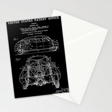 Motor Car Patent - Black Stationery Cards