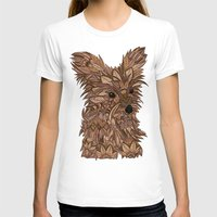 yorkie T-shirts featuring Cute Yorkie by ArtLovePassion