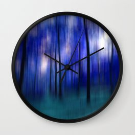 forest abstract Wall Clock