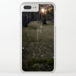 Rising Sun and Witch's Hair Clear iPhone Case