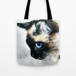 Siamese Cat Acrylic Painting Tote Bag