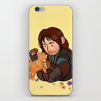 kili iPhone & iPod Skins featuring Kili and Kitten by Hattie Hedgehog