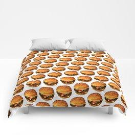 Cheeseburger Pattern 2 Comforters