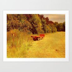 Summer Mowing. Art Print