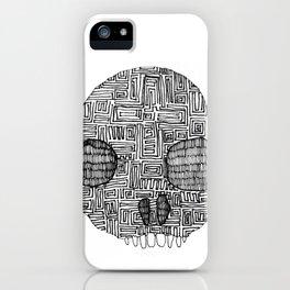 Labyrinth Skull iPhone Case