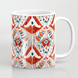 red bali ikat mini Coffee Mug