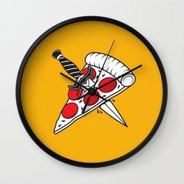 Pizza Tatt Wall Clock