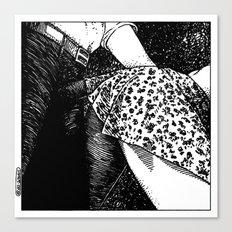 asc 662 - Les rendez-vous du crépuscule (Visitor in the twilight) Canvas Print