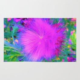 Psychedelic Purple Garden Milkweed Flower Rug