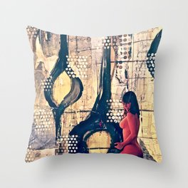 Abstract Experimentation V 2.0 Throw Pillow