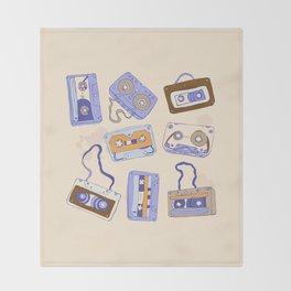 Audio cassette Throw Blanket
