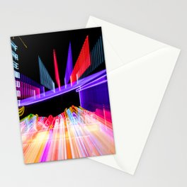 Moving Out zoom burst photograph Fremont Theater San Luis Stationery Cards