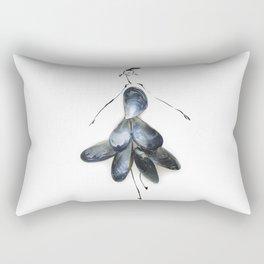 Edible Ensembles: Blue Mussels Rectangular Pillow