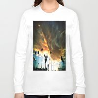 hollywood Long Sleeve T-shirts featuring HollyWood Clouds!!! by Arturo Garcia