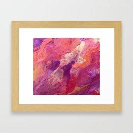 Deep Pink Framed Art Print