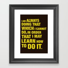 Do it. Framed Art Print
