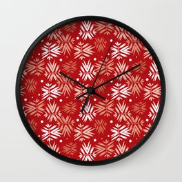 Filled With Leaves IV Wall Clock