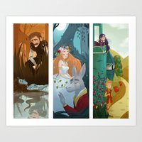 shakespeare Art Prints featuring Shakespeare by Supergna