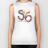 indie Biker Tanks featuring Indie Artists Society 6 by Shelly Penko