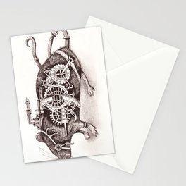 Nathaniel The Steampunk Rat Stationery Cards