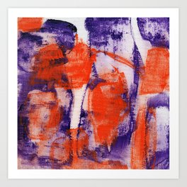 Abstract Expression #12 by Michael Moffa Art Print