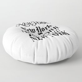 I Heart New York City Black and White New York Poster I Love NYC Design black-white home wall decor Floor Pillow