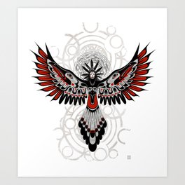 Divine Crow Woman Art Print